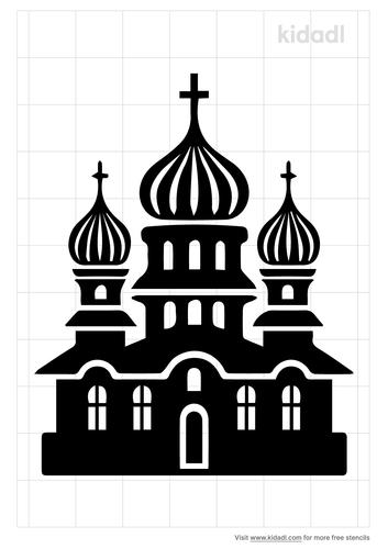 onion-dome-stencil