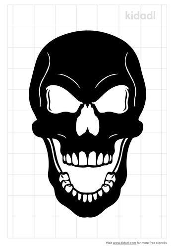 open-mouth-skull-stencil