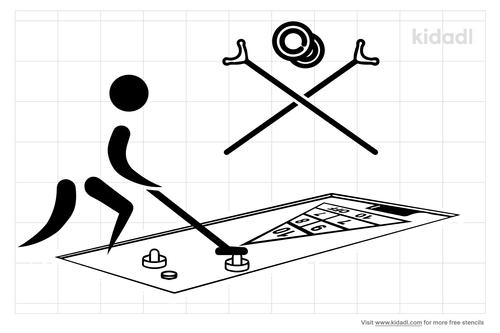 outdoor-shuffleboard-stencil