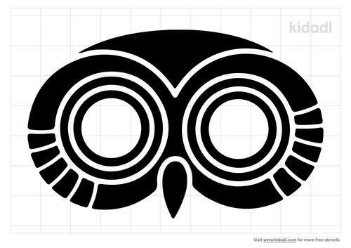 owl-face-stencil