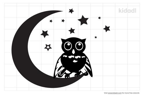 owl-on-a-moon-stencil