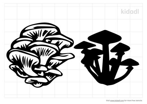oyster-mushroom-stencil