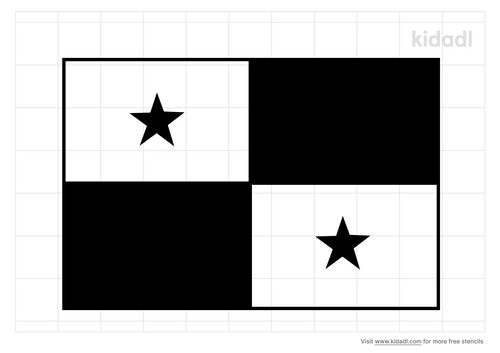 panama-flag-stencil