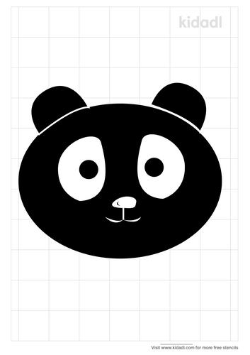 panda-face-stencil