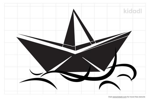 paper-boat-stencil