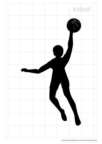 passing-ball-players-stencil