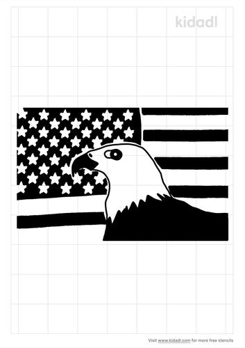 patriotic-background-with-eagle-stencil