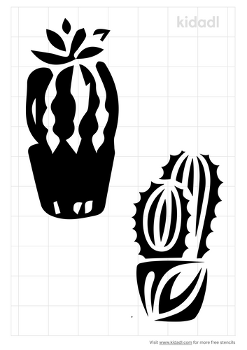 patterned-cactus-stencil