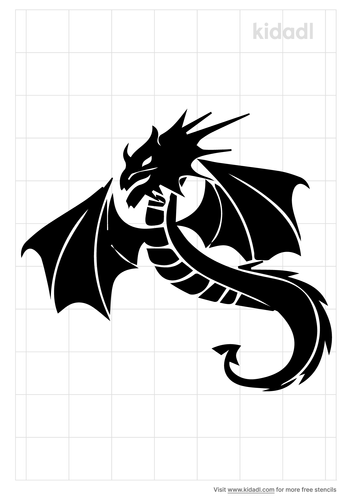 patterned-flying-dragon-stencil