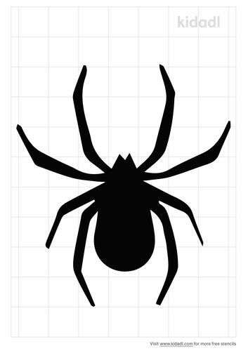 patterned-spider-stencil