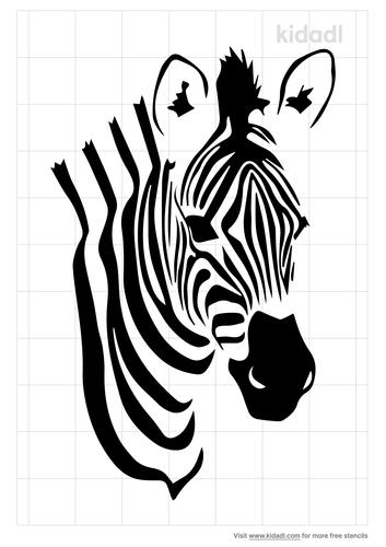 patterned-zebra-stencil