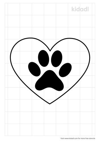 paw-print-heart-stencil