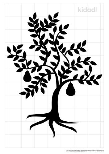 pear-tree-stencil