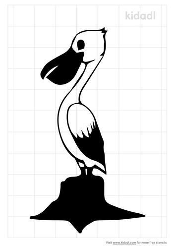pelican-on-stump-stencil