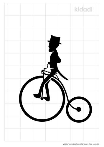 penny-farthing-rider-stencil