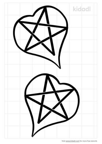 pentagram-in-heart-stencil