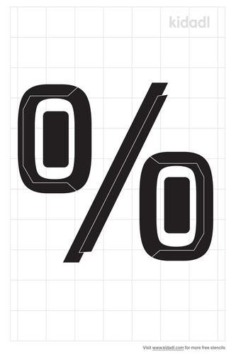 percent-sign-stencil