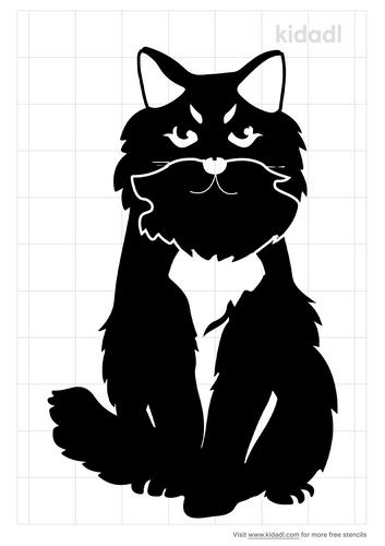 persian-cat-stencil