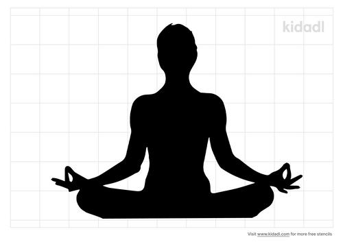 person-meditation-stencil