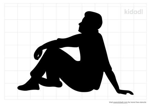 person-sitting-stencil