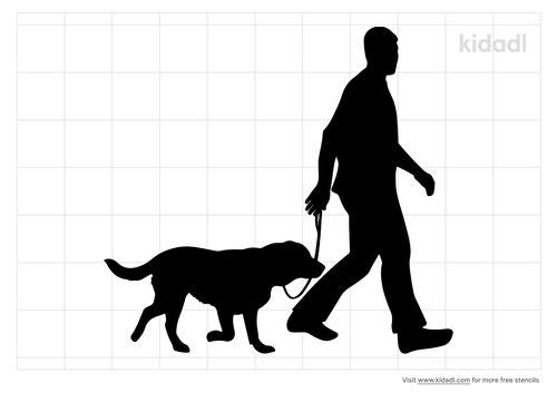 person-walking-dogs-stencil
