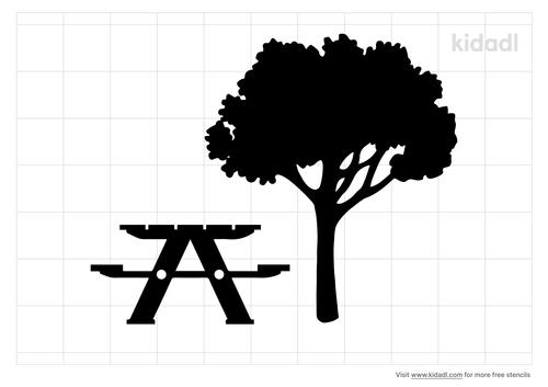 picnic-area-stencil