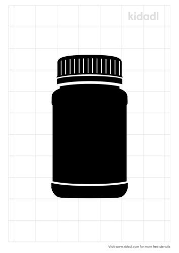 pill-bottle-stencil