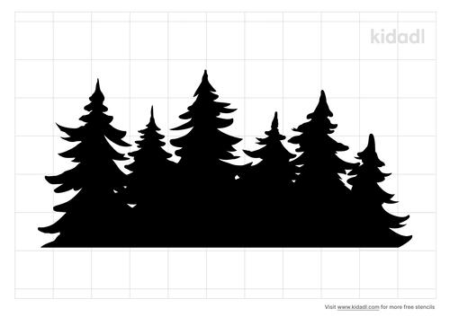 pine-forest-line-stencil