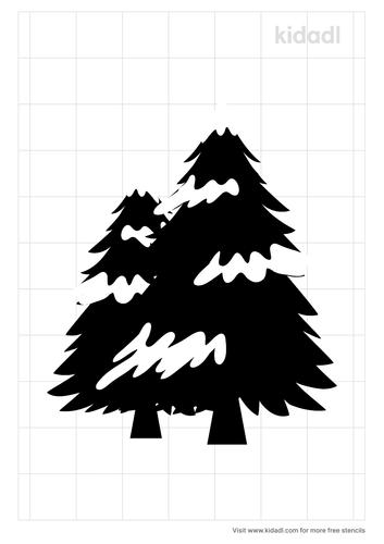 pine-tree-snow-stencil