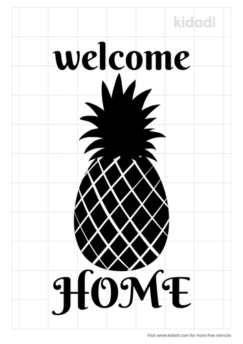 pineapple-welcome-to-our-home-stencil