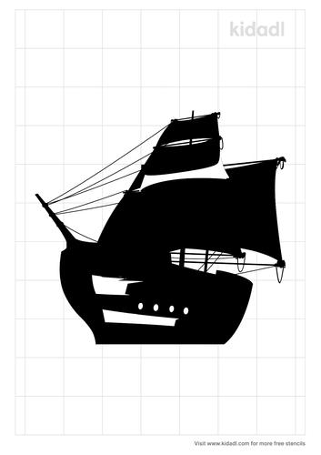 pirate-ship-telescope-stencil
