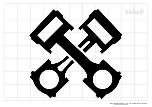 piston-cross-decal-stencil