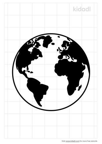 planet-earth-stencil