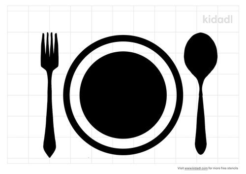plate-and-fork-stencil