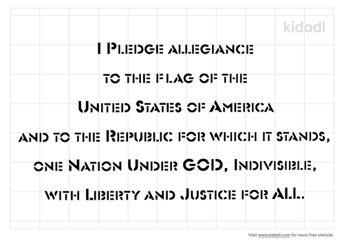 pledge-of-allegiance-stencil
