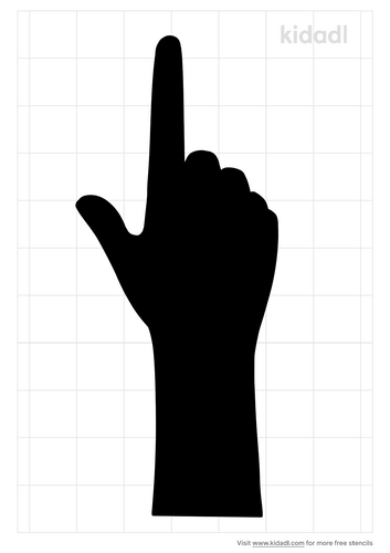pointing-finger-stencil