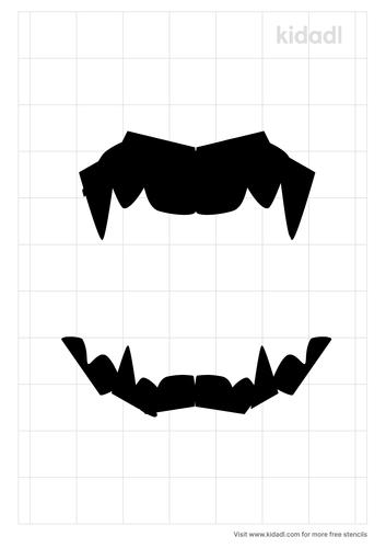 pointy-teeth-stencil