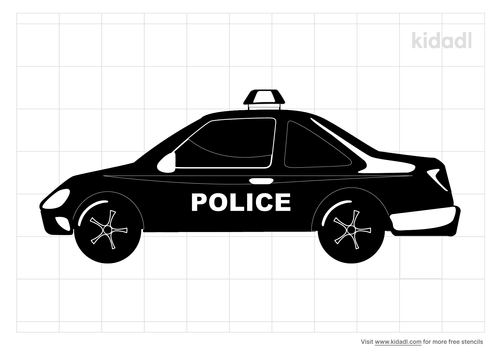 police-car-stencil