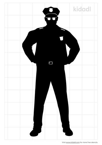 police-officer-stencil