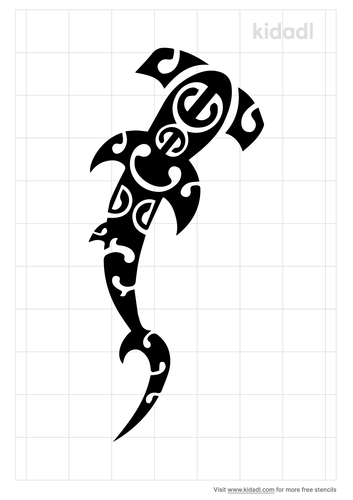 polynesian-style-shark-stencil