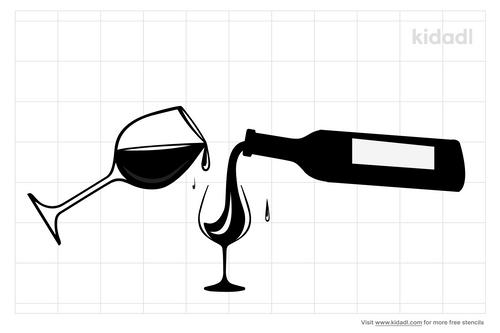 pouring-champagne-stencils