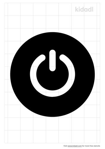 power-button-stencil