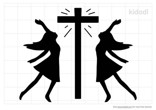 praise-dance-stencil