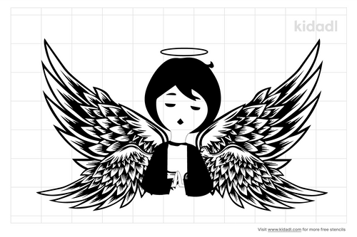 praying-angel-with-wings-stencil