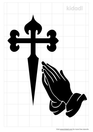 praying-hands-cross-stencil