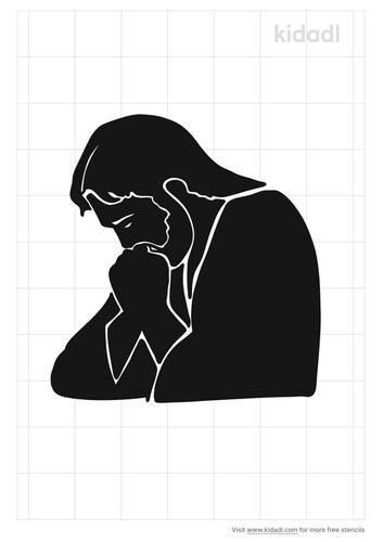 praying-jesus-stencil