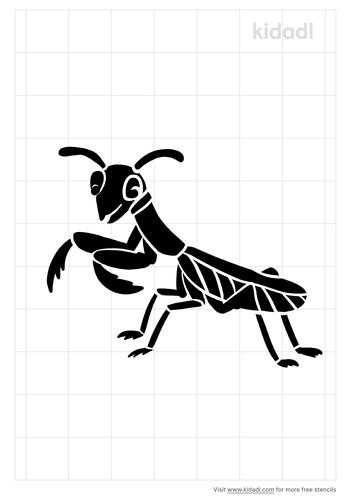 praying-mantis-stencil