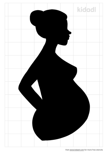 pregnant-woman-stencil