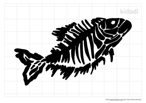 prehistoric-small-fish-fossil-stencil