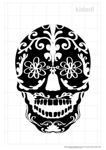 pretty-skull-stencil